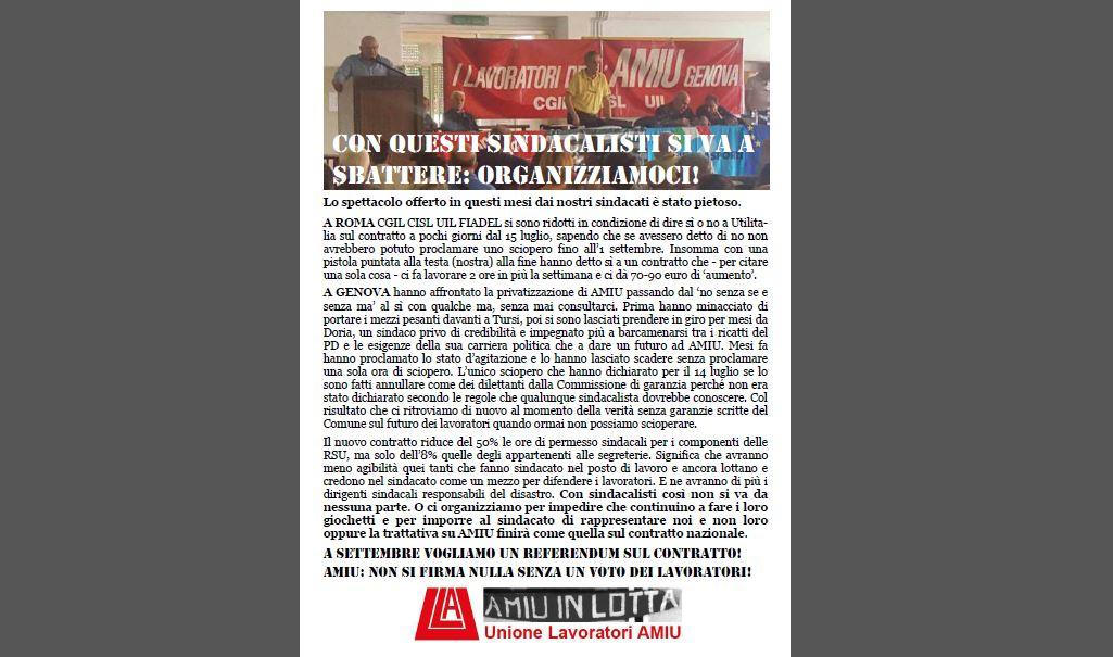 IGIENE AMBIENTALE Da Genova e Roma una sveglia al sindacato: 'Spettacolo pietoso'